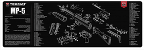TekMat - Gun Cleaning Bench Mat 3D For Heckler & Koch MP5