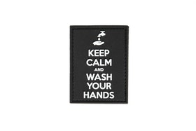 3D patch - Keep Calm and Wash Your Hands Patch - Black