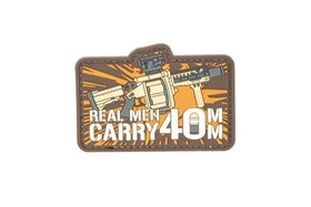3D patch - Real Man Carry 40mm