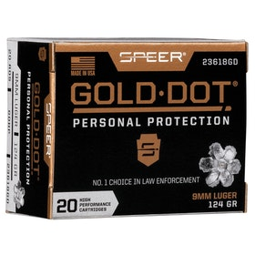 Speer - Gold dot personal protection ammo - 9mm luger GDHP 124GR