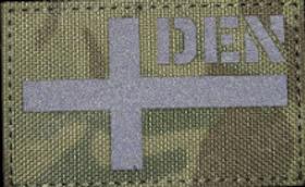 Denmark Flag camo Patch