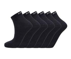 Endurance - IBI quarter socks 6-pack - Black