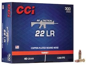 CCI - AR Tactical target ammo .22 LR - Copper plated RN 40gr - 300/box