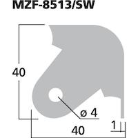 Monacor MZF-8513SW Metallhörn, svart