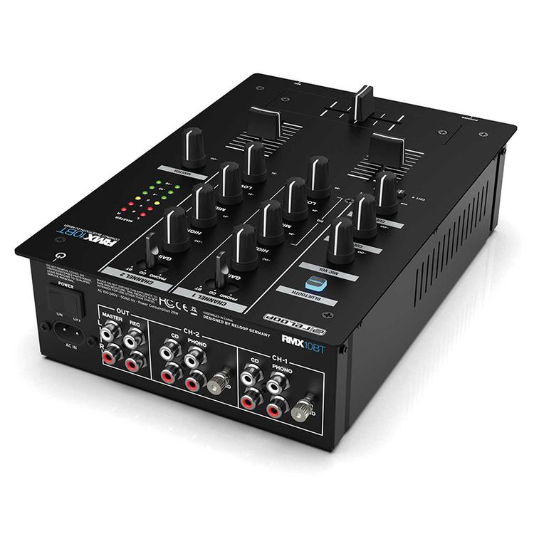 Reloop RMX-10 BT, 2-kanalig kompakt DJ-mixer med blåtand