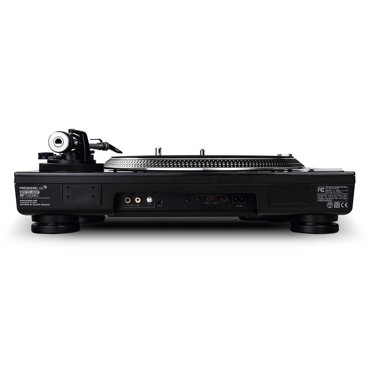 RELOOP RP-7000MK2 SILVER Pro DJ-skivspelare, svart/guld