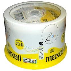 Maxell CD-R 52x 80min Inkjet Print 50
