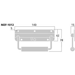 Monacor MZF-1012 Utanpå liggande Handtag