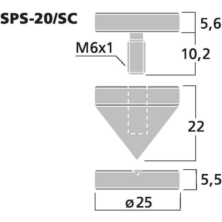 Monacor SPS-20/SC Högtalarspikes (4st/fp)