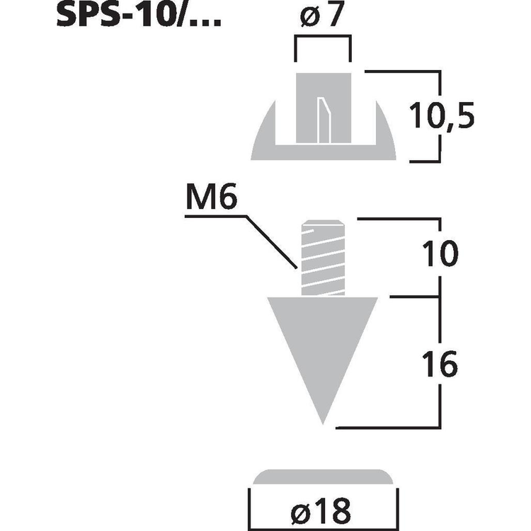 Monacor SPS-10/GO Högtalarspikes (4st/fp)