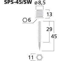 Monacor SPS-45/SW Högtalarspikes (4st/fp)
