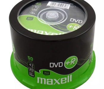 Maxell DVD+R 4.7GB 50-pack cakebox