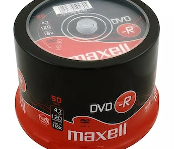 Maxell DVD-R 4.7GB 50-pack cakebox