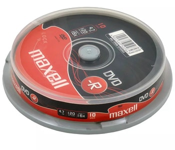Maxell DVD-R 4.7GB 10-pack cakebox