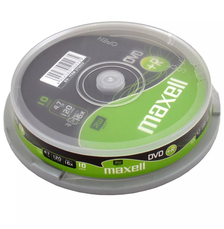 Maxell DVD+R 4.7GB 10-pack cakebox