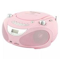 Champion Boombox CD/Radio/MP3/USB Rosa