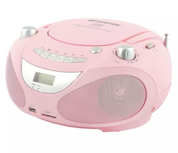 Champion Boombox CD/Radio/MP3/USB Rosa