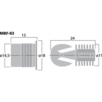 Monacor MBF-83 Gallerhållare