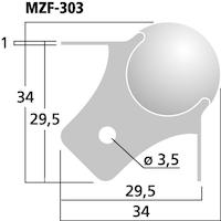 Monacor MZF-303 Ball Corner