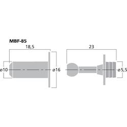 Monacor MBF-85 Gallerhållare (8st/fp)