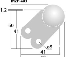 Monacor MZF-403 Ball Corner