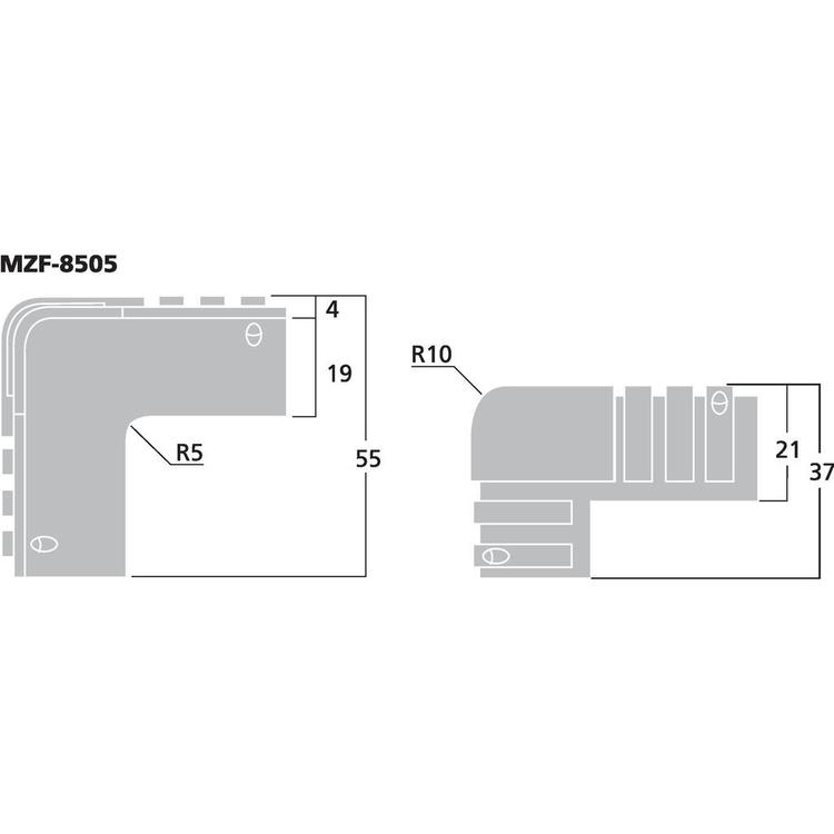 Monacor MZF-8505 Plasthörn