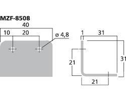 Monacor MZF-8508 Metalvinkel