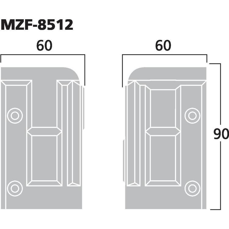 Monacor MZF-8512 PlakontaktHörn