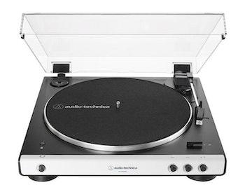 Audio-Technica AT-LP60BTWH Skivspelare, vit front