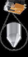 Audio-Technica VM530EN/H, High-End Dubbel rörlig magnet stereo pickup med elliptisk nål