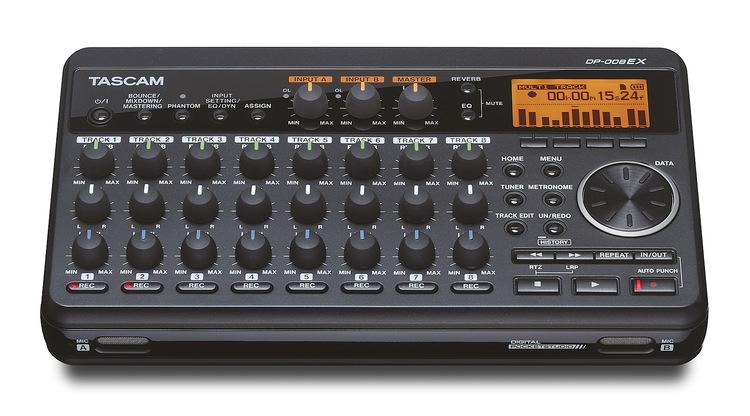 Tascam DP-008EX Ultrakompakt 8-spårig digital portastudio