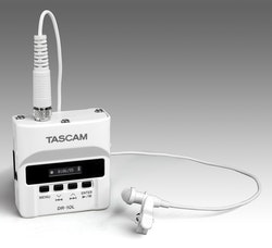 Tascam DR-10LW Digital Audio Recorder (White) With Lavalier Microphone