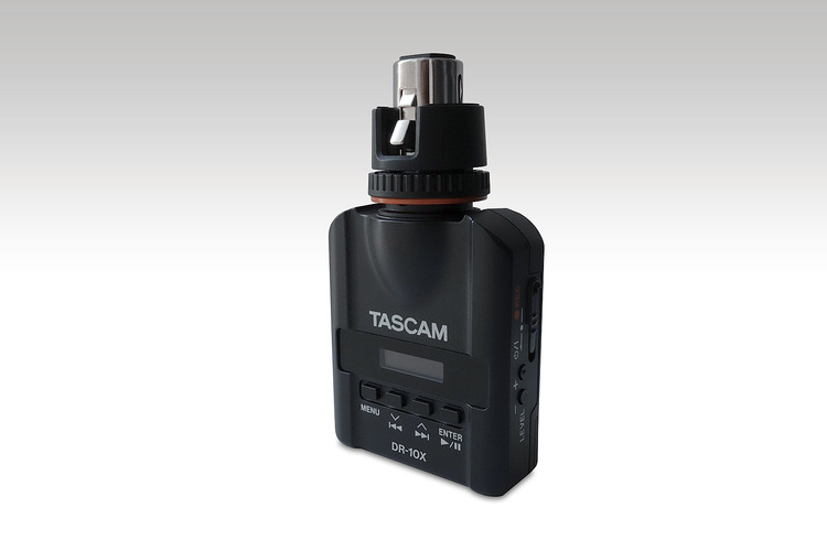 TascamDR-10X Mic-attachable audio recorder