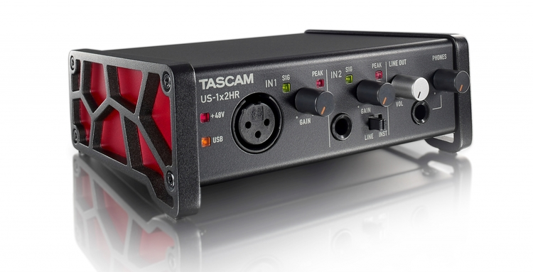 Tascam US-1X2HR USB Audio interface 1 in 2 out