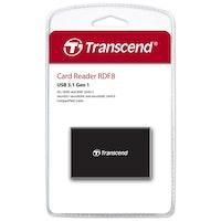 Transcend Multiläsare F8 USB 3.1 Svart