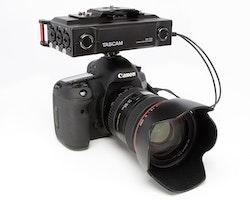 Tascam DR-70D 4-channel audio recorder for DSLR cameras