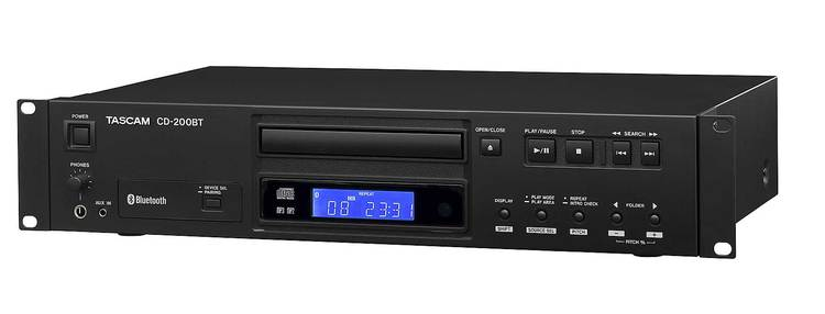 Tascam CD-200BT CD player Bluetooth MP3-WAV IR remote control