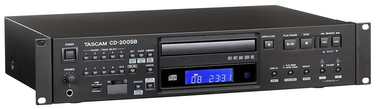 Tascam CD-200SB Solid-state CD player MP3-WAV-CD-SD-USB media