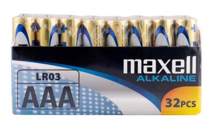 Maxell Alkaliska Batterier LR03 (AAA) 1,5 V  32-pack