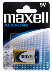 Maxell Alkaliska batterier 9V (6LR61)
