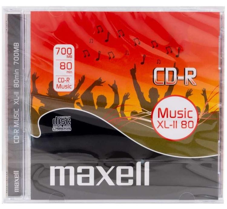 Maxell CD-R Music 52x 80min 10-pack JewelCase