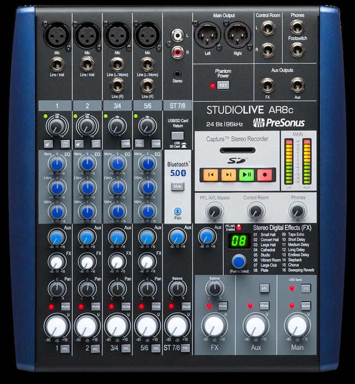 Presonus StudioLive AR8 C USB-C mixer