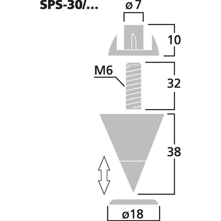 Monacor SPS-30/SC Kraftiga Högtalarspikes (4st/fp)