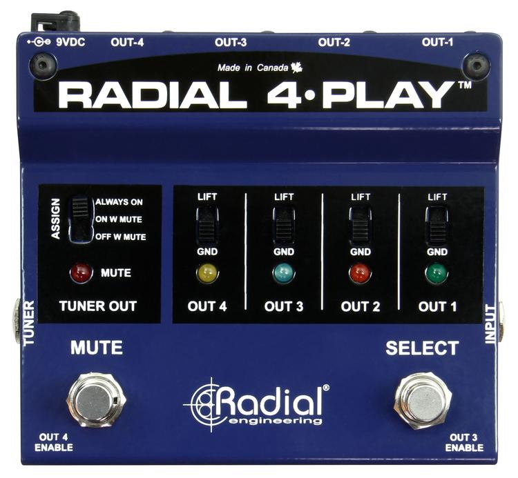 Radial 4 Play Multi-Output DI Box