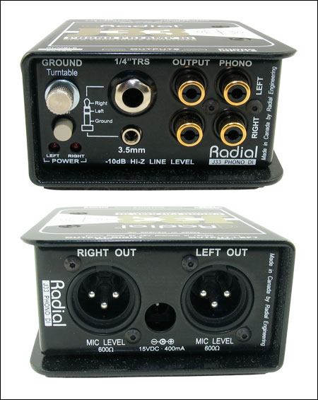 Radial J33 Turntable Direct Box