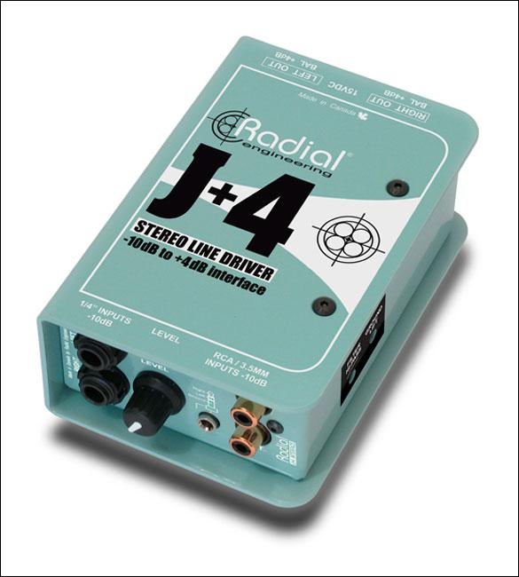 Radial J+4 Balanced -10dB to +4dB Driver