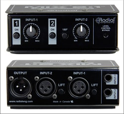 Radial MIX 2:1 Passive balanced mixer 2 in 1 out