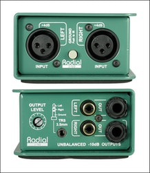 Radial J-ISO Converter from +4dB to -10dB