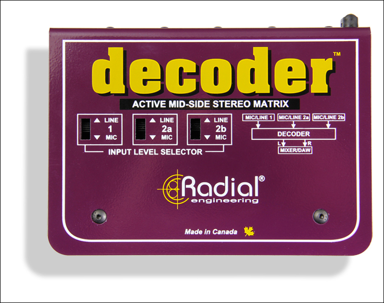 Radial Decoder- Mid/Side Matrix and Mic Preamp