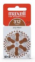 MAXELL PR41 Hörapparatsbatteri 312/Brun 6-pack